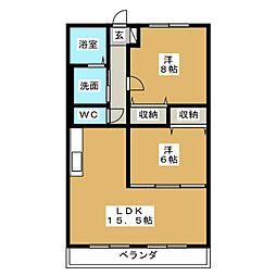 ハートフルマンションKAWABE[3階]の間取り