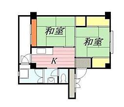 神奈川県秦野市戸川の賃貸マンションの間取り