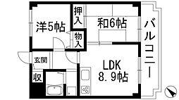 宝塚グリーンハイツ4号館[3階]の間取り