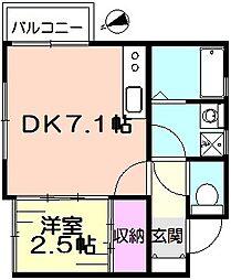 コーポシラカバ[2階]の間取り