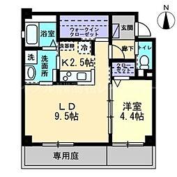 香川県高松市紙町の賃貸アパートの間取り