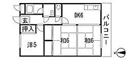 谷川マンション[2階]の間取り