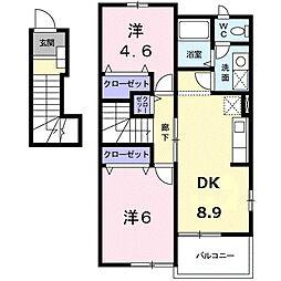 ラ・カスカータⅡ[2階]の間取り
