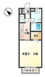 滋賀県東近江市梅林町の賃貸アパートの間取り