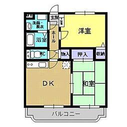 宮崎県宮崎市大字新名爪の賃貸アパートの間取り