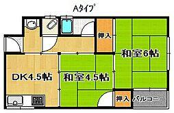 本田コーポ[2階]の間取り