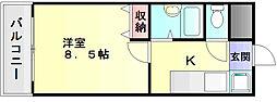 エース弐番館[3階]の間取り