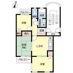 大和田コヤママンション[202号室]の間取り