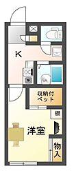 滋賀県大津市和邇今宿の賃貸アパートの間取り