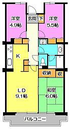 ネオアーバン新座弐番館[4階]の間取り