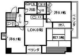 青風マンション[2階]の間取り
