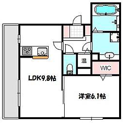 大阪府門真市常称寺町の賃貸アパートの間取り