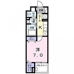 ツインテール[3階]の間取り