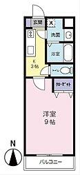 SYLPH・K シルフ ケイ[4階]の間取り