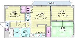 クレアール 1階3LDKの間取り