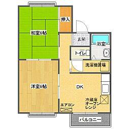 かすみマンション[302号室]の間取り