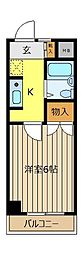 WJ−W−8ビル[201号室]の間取り