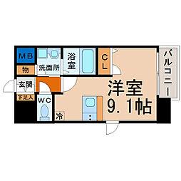 プレサンス名古屋STATIONビーフレックス[301号室]の間取り