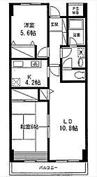 神奈川県横浜市保土ケ谷区権太坂1丁目の賃貸マンションの間取り