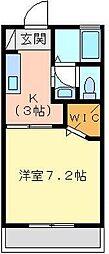 サニーコート[203号室]の間取り