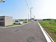 接道状況および現場風景 立川市西砂町1丁目