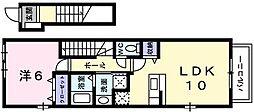兵庫県神戸市西区枝吉1の賃貸アパートの間取り