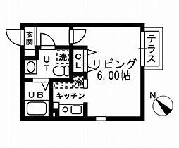 東京都目黒区洗足2丁目の賃貸マンションの間取り