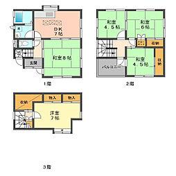 [一戸建] 東京都葛飾区鎌倉2丁目 の賃貸【/】の間取り