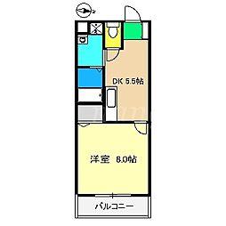 サニーハイツ福岡[3階]の間取り