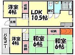 [テラスハウス] 大阪府堺市西区鳳南町1丁 の賃貸【/】の間取り