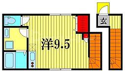 COLTO亀有 2階ワンルームの間取り