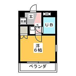 HILL TOP 覚王山[1階]の間取り