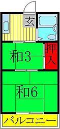森田コーポ[2階]の間取り