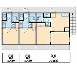新検見川第4[1階]の間取り