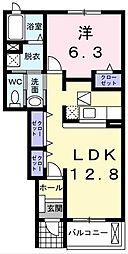 プラシードI[1階]の間取り