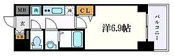 プレサンス丸の内アデル 2階1Kの間取り