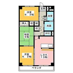 栄ma[3階]の間取り