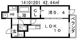 ブライトアビコ[6階]の間取り