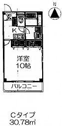 ジュネス・5・栄[3階]の間取り