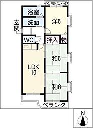 セントラル21[1階]の間取り