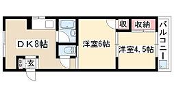 昭栄コーポラス[306号室]の間取り
