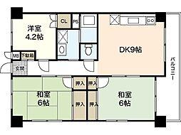 栄コーポ[3階]の間取り
