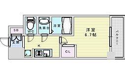 Osaka Metro御堂筋線 西中島南方駅 徒歩14分の賃貸マンション 11階1Kの間取り