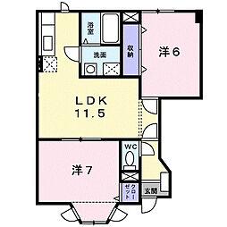 メゾンⅢ[1階]の間取り