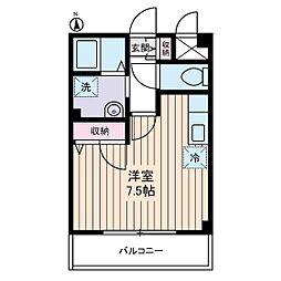 Mフラット[2階]の間取り