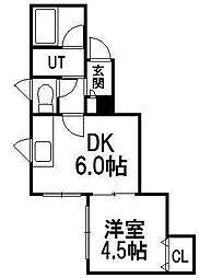 PLAZA IN M・K[2階]の間取り
