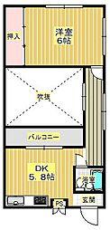 アリマル箕面[3階]の間取り