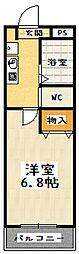 JTトキジン[201号室]の間取り