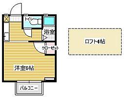 エトワール松崎[203号室]の間取り