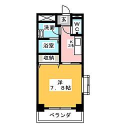 グランブルー21[1階]の間取り